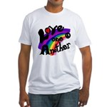Love One Another Rainbow Fitted T-Shirt
