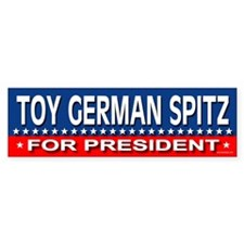 TOY GERMAN SPITZ Bumper Bumper Sticker