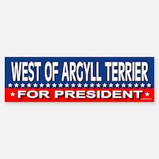 WEST OF ARGYLL TERRIER Bumper Bumper Bumper Sticker