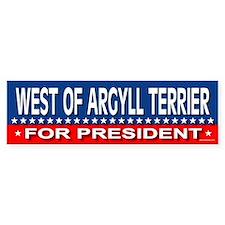 WEST OF ARGYLL TERRIER Bumper Bumper Sticker