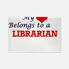 My heart belongs to a Librarian Magnets