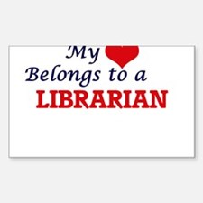 My heart belongs to a Librarian Decal