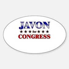 JAVON for congress Oval Decal