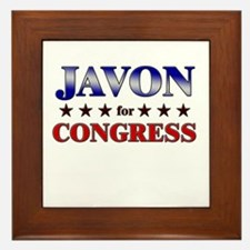 JAVON for congress Framed Tile
