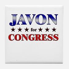 JAVON for congress Tile Coaster