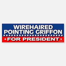 WIREHAIRED POINTING GRIFFON Bumper Bumper Bumper Sticker