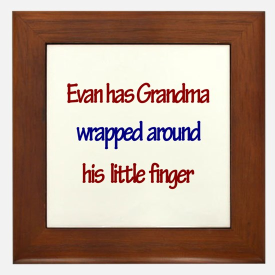 Evan - Grandma Wrapped Around Framed Tile
