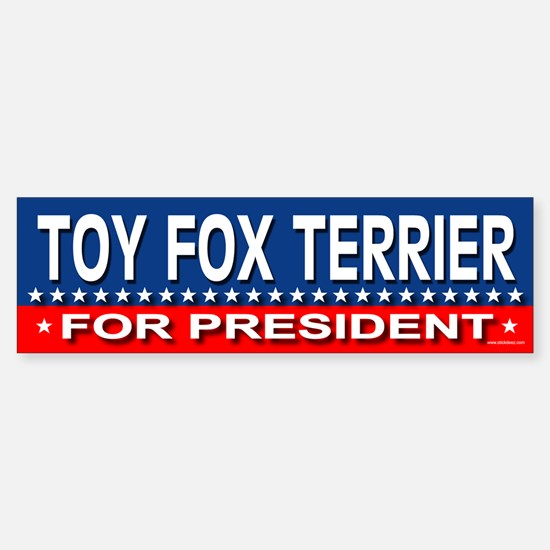 TOY FOX TERRIER Bumper Bumper Bumper Sticker
