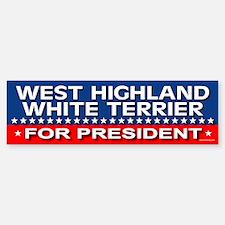 WEST HIGHLAND WHITE TERRIER Bumper Bumper Bumper Sticker