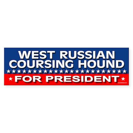 WEST RUSSIAN COURSING HOUND Bumper Sticker