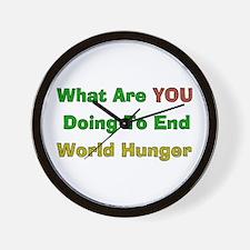 End World Hunger Wall Clock