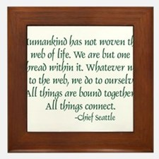 Web Of Life Framed Tile