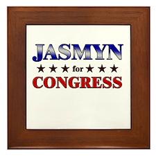JASMYN for congress Framed Tile