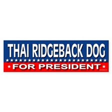 THAI RIDGEBACK DOG Bumper Bumper Bumper Sticker