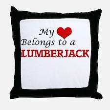 My heart belongs to a Lumberjack Throw Pillow