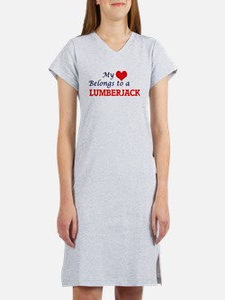 My heart belongs to a Lumberjac Women's Nightshirt