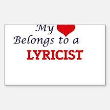 My heart belongs to a Lyricist Decal