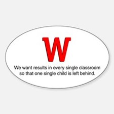 We want results in... Oval Decal