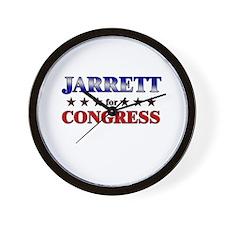 JARRETT for congress Wall Clock