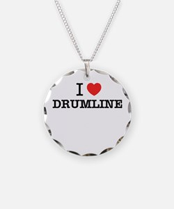 I Love DRUMLINE Necklace Circle Charm