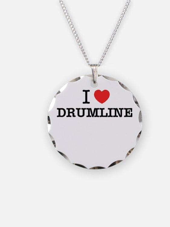I Love DRUMLINE Necklace Circle Charm