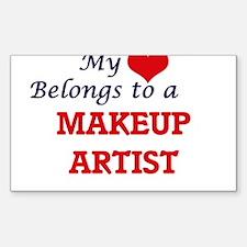 My heart belongs to a Makeup Artist Decal