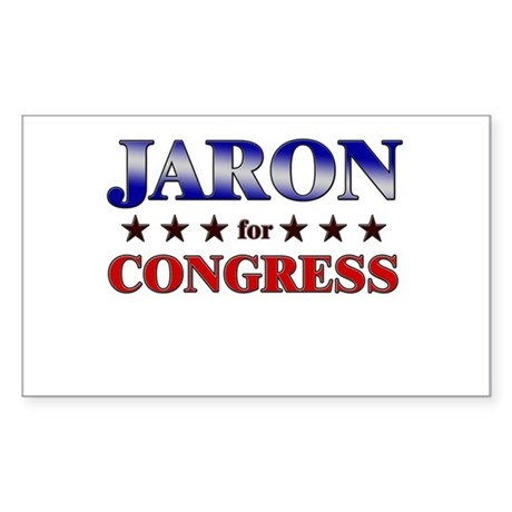 JARON for congress Rectangle Sticker