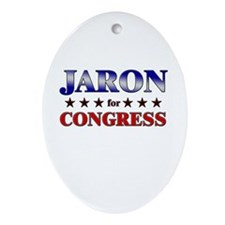JARON for congress Oval Ornament
