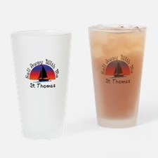Sail Away with me St. Thomas Drinking Glass