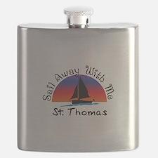 Sail Away with me St. Thomas Flask
