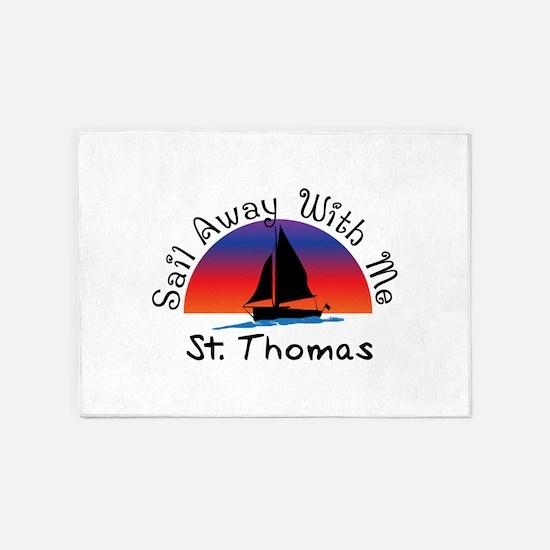 Sail Away with me St. Thomas 5'x7'Area Rug