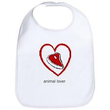 """ANIMAL LOVER"" Bib"