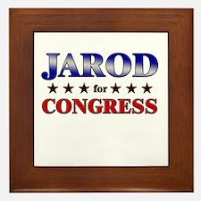 JAROD for congress Framed Tile