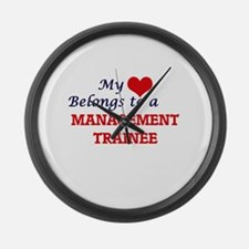 My heart belongs to a Management Large Wall Clock