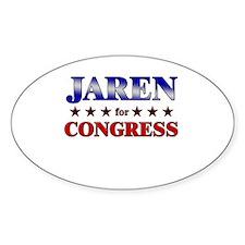 JAREN for congress Oval Decal