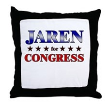 JAREN for congress Throw Pillow