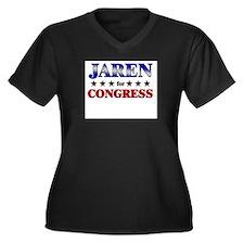 JAREN for congress Women's Plus Size V-Neck Dark T