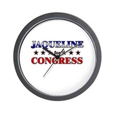 JAQUELINE for congress Wall Clock