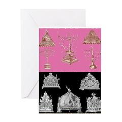 Antique Menorahs Chanukah Card