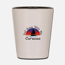 Sail Away with me Curacao. Shot Glass