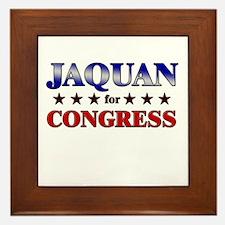 JAQUAN for congress Framed Tile