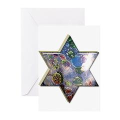 Star of David Hanukkah Cards (20 in pack)