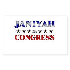 JANIYAH for congress Rectangle Decal