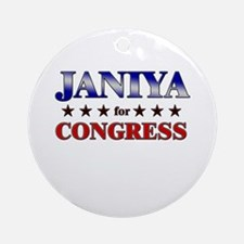 JANIYA for congress Ornament (Round)