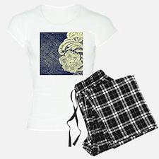 navy blue burlap lace Pajamas