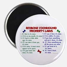 Redbone Coonhound Property Laws 2 Magnet