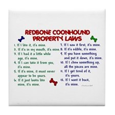 Redbone Coonhound Property Laws 2 Tile Coaster