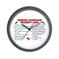Redbone Coonhound Property Laws 2 Wall Clock