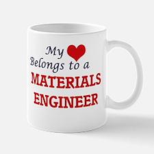 My heart belongs to a Materials Engineer Mugs