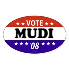 MUDI Oval Decal